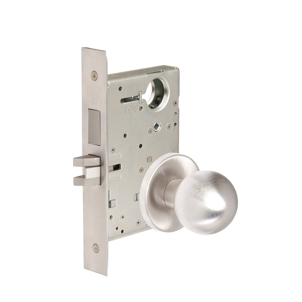 CORBINRUSSWIN ML2065-GWC-626-LC 626 Satin Chrome, Knob GWC Global, Dormitory/Exit, Steel; Stainless Steel; Brass