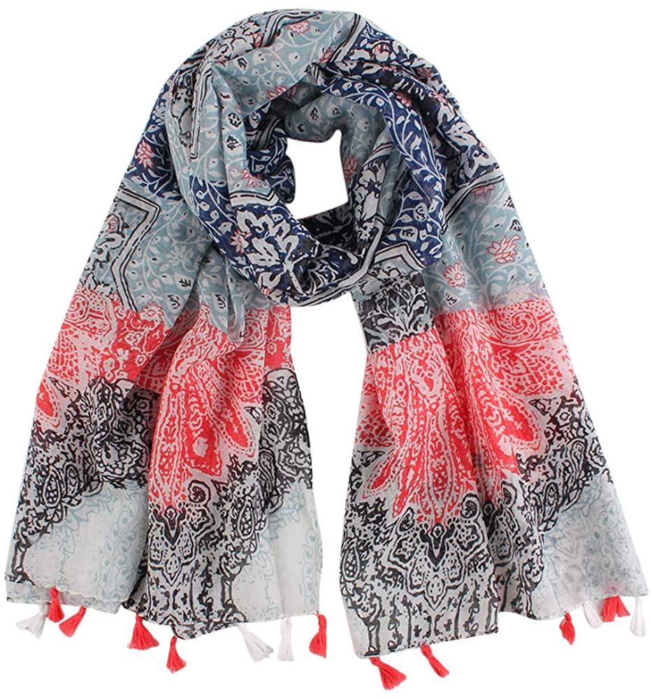 Women Summer Scarf Sunscreen Beach Silk Cloth Washable Reusable Headscarf Wrap