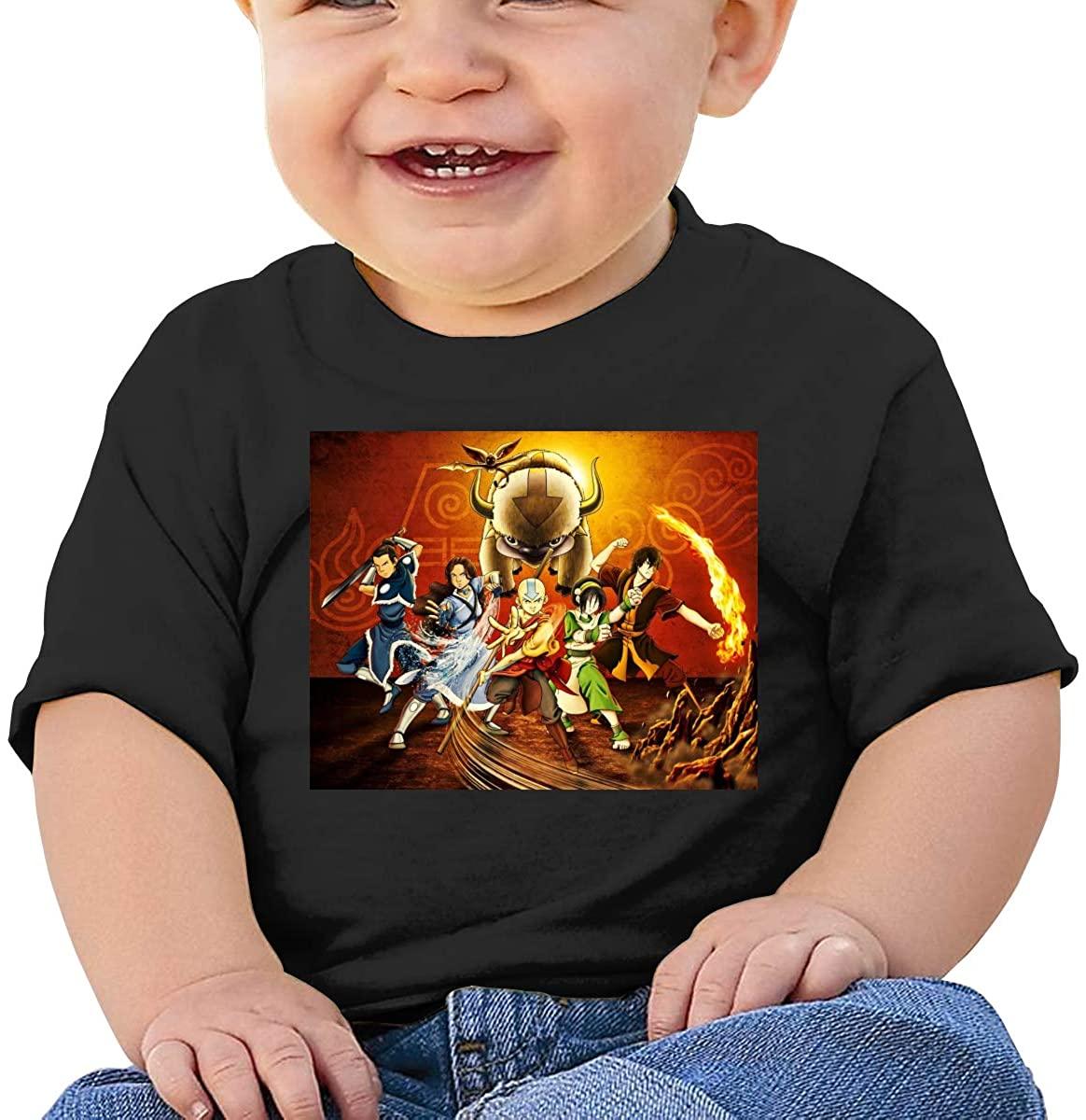 AP.Room Colorful Short-Sleeved Comfortable and Refreshing Shirt Airbender of Korra Aang Baby T-Shirt