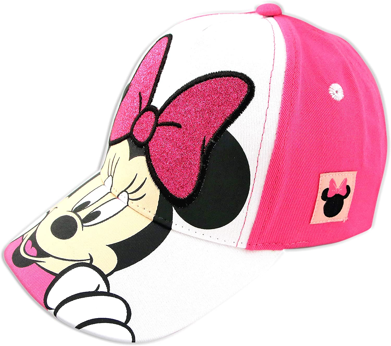 Disney Minnie Mouse Kids Baseball Hat, Little Girls Cap Ages 2-7, Pink,