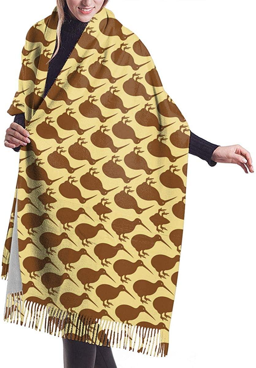 New Zealand Kiwi Bird Warm Cashmere Shawl Wrap Long Scarves Travel Neckerchief