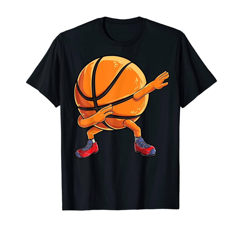 Dabbing Basketball Ball T shirt Kids Boys Dab Dance Gifts