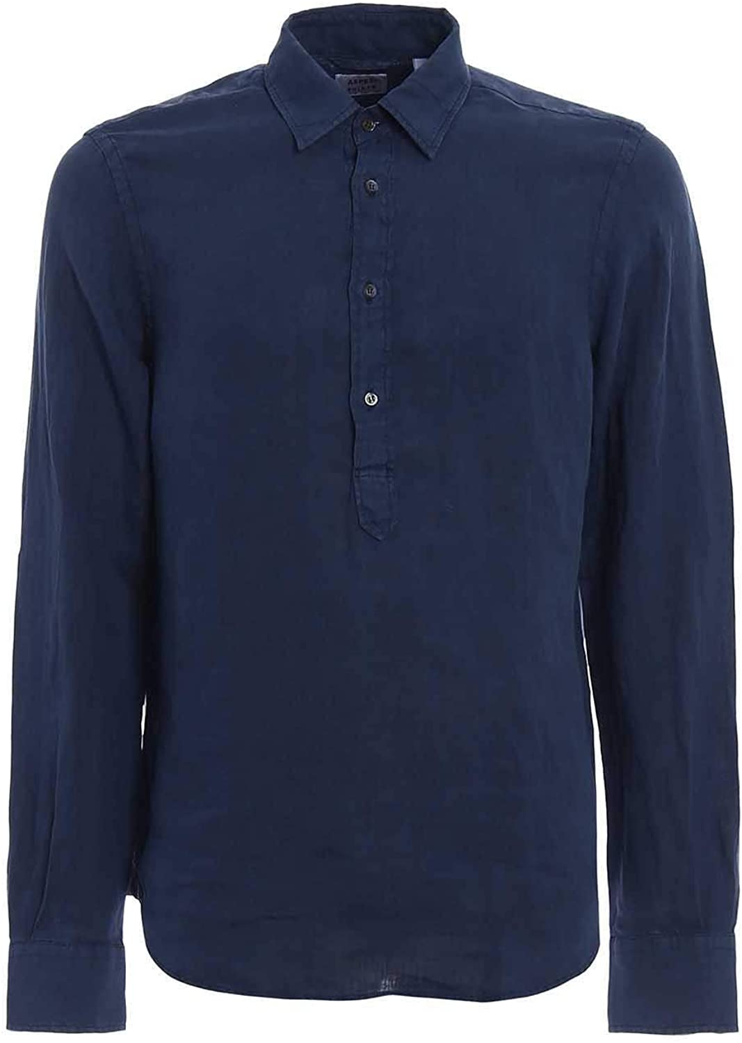 Aspesi Luxury Fashion Man CE66C19585098 Blue Linen Shirt | Spring Summer 20