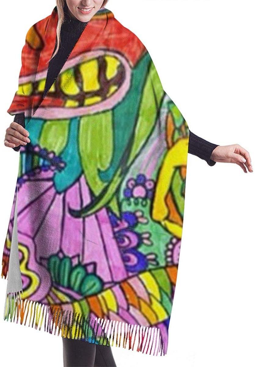 Magical Psychedelic Trippy Art Heat Women Scarf Shawl Winter Wrap Head Scarves