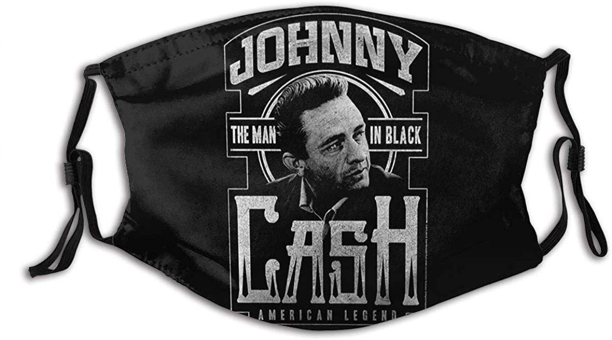 Vigikod Johnny Cash Adult Dust Face Cover Washable Reusable Mouth Guard with Activated Carbon Filter
