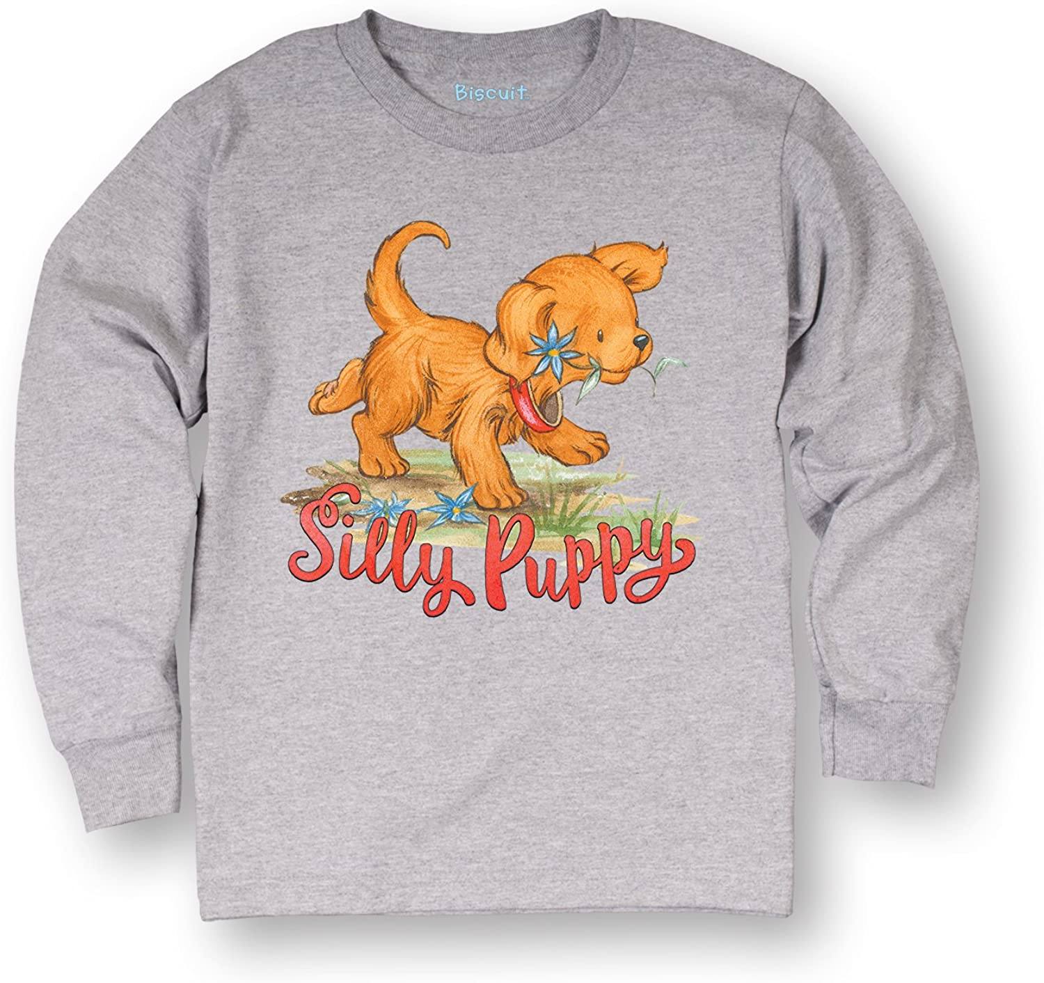 Air Waves Biscuit The Little Yellow Puppy Silly Puppy-Toddler Long Sleeve TEE-3T
