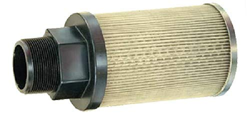 Flow Ezy Filters, Inc. PASS20 1-1/4 100 All Stainless Steel Suction Strainer with Nylon Connector End, 20 GPM, 1-1/4