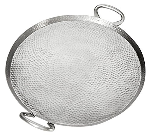 American Metalcraft G17 Hammered Stainless Steel Griddle, Round, 17