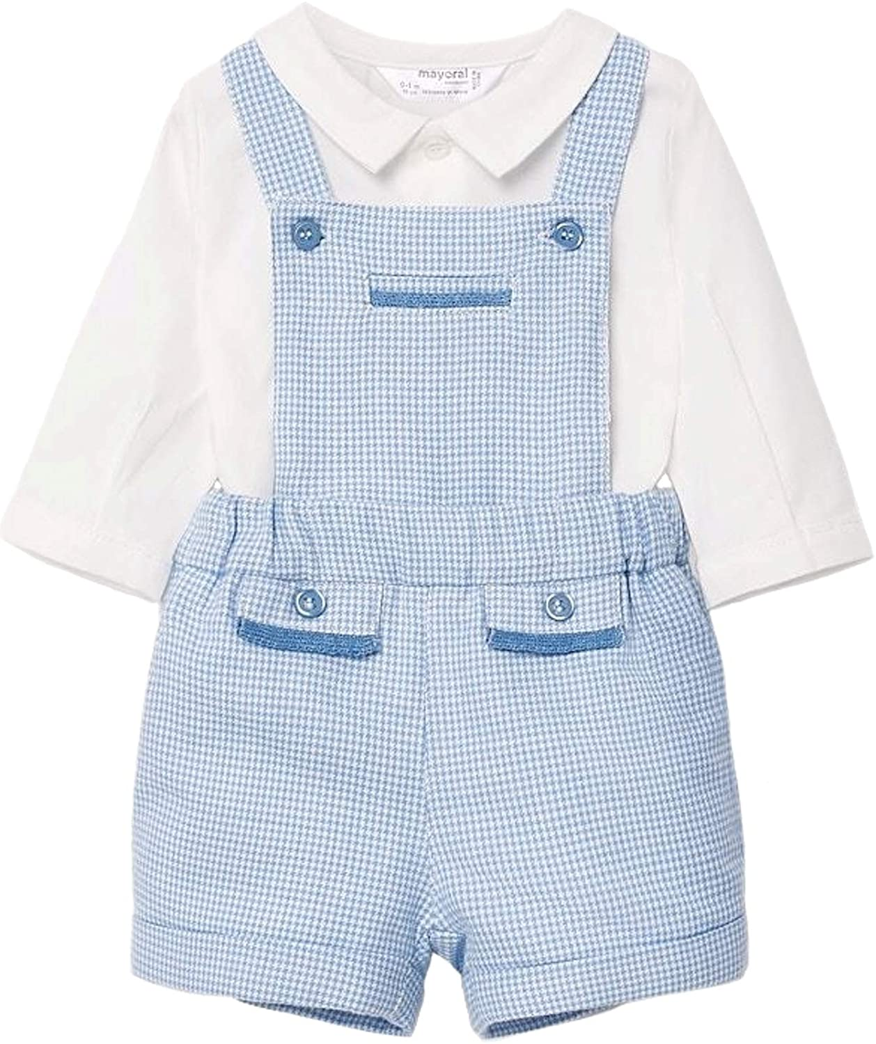 Mayoral - Short Dungaree & Shirt Set for Baby-Boys - 2636, Pacific