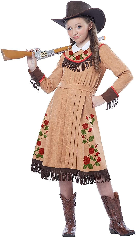 California Costumes Cowgirl/Annie Oakley Girl Costume, One Color, Medium