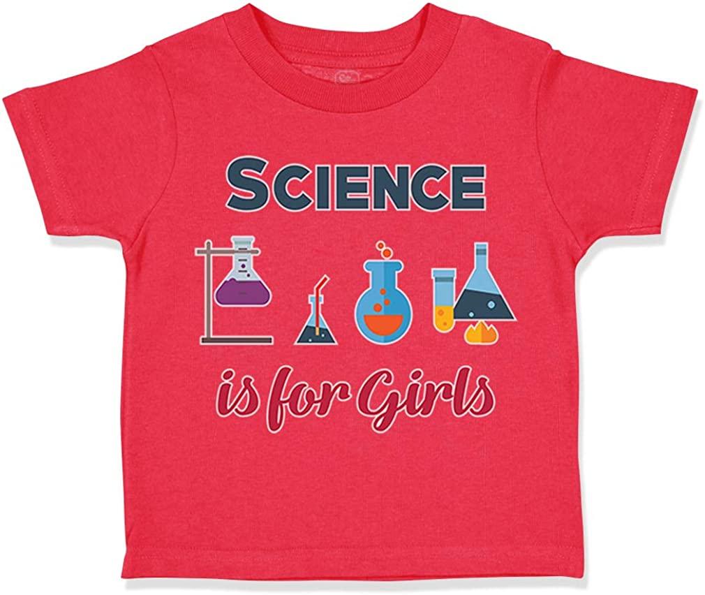 Custom Toddler T-Shirt Science is for Girls Geek Teacher School Education Cotton