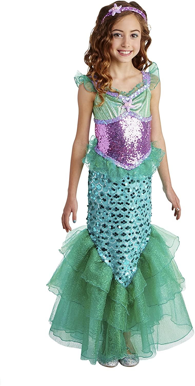 Happy Haunts Blue Seas Mermaid Costume, Small 4-6