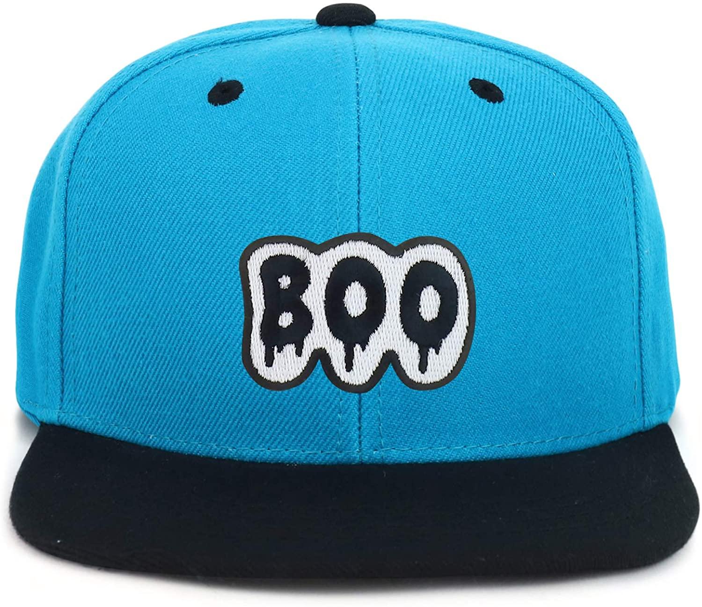 Armycrew Youth Kid's Boo Patch Flat Bill Snapback 2-Tone Baseball Cap
