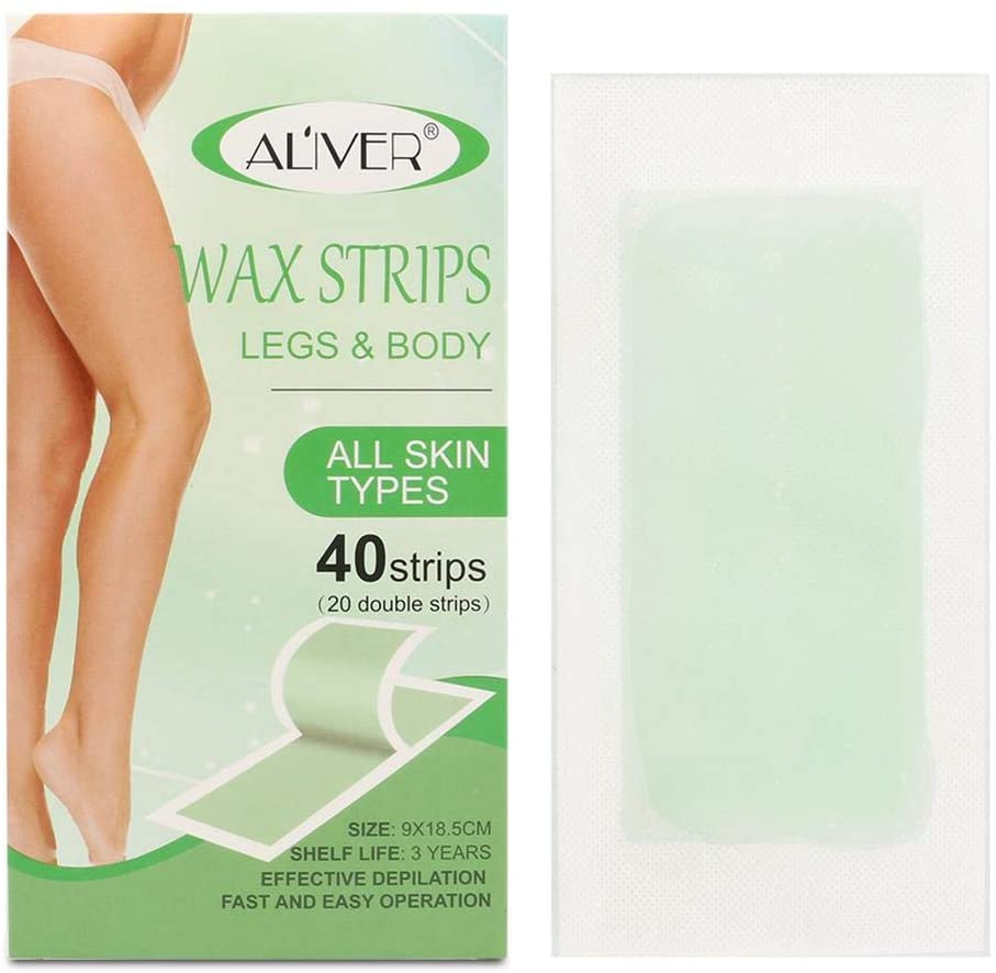 N/Z 40PCS Wax Hair Removal Wax Strips for Full Body All Skin Types Body Wax Strips for Women Men Face Legs Arms Underarm