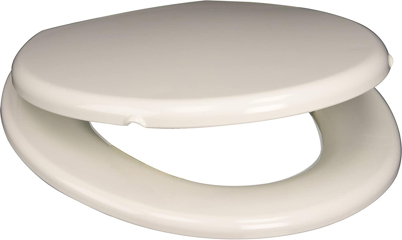 PlumbTech 2C3R7-00 Premium Slow Close Round Toilet Seat, White