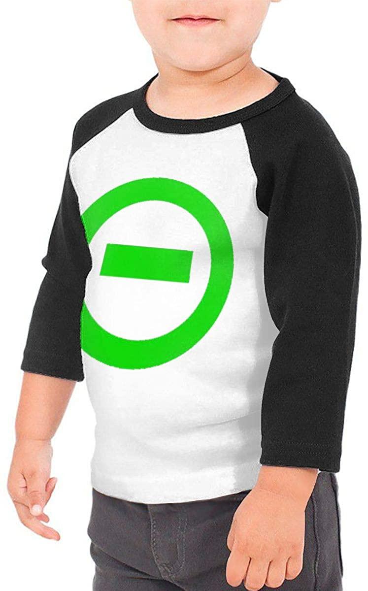 Toddler Baby Girls Boys Type O Negative Novelty 3/4 Sleeve Raglan Shirt Baseball Tee Cotton T-Shirt