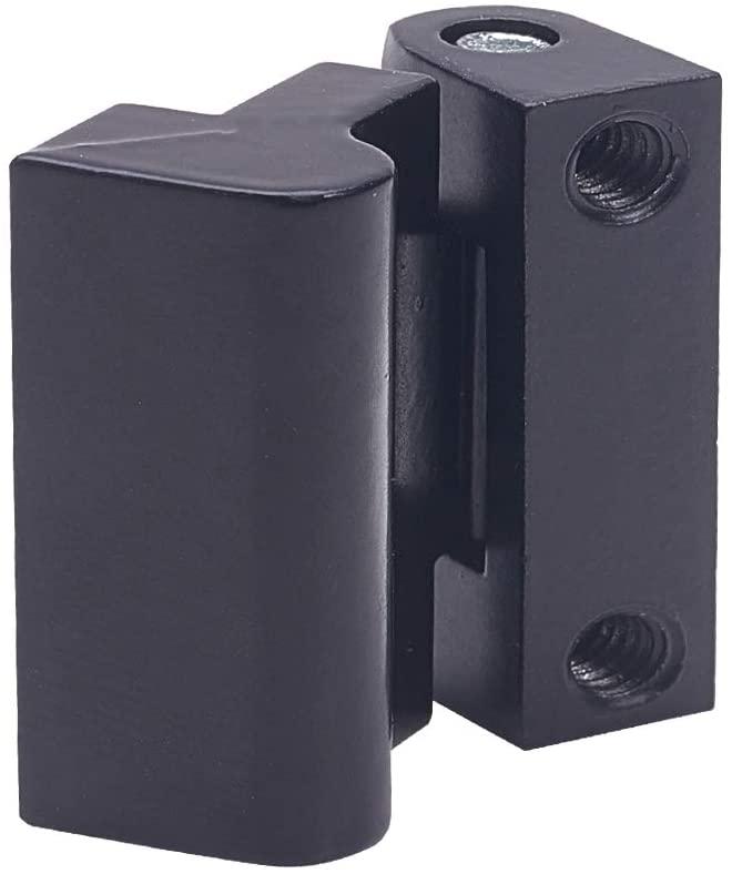 MroMax Door Hinge,1PCS Home Office Thread 180 Degree Door Bearing Butt Hinge Black 30mm x 26mm