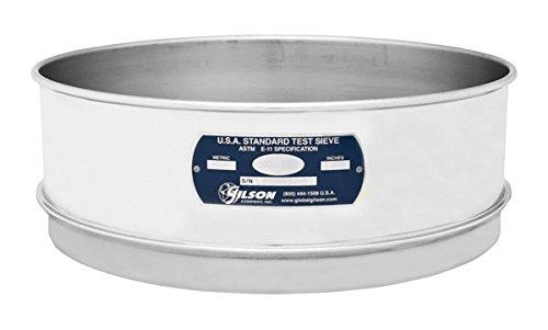 Gilson V12SF #450 Stainless Steel Sieve, 450, 12