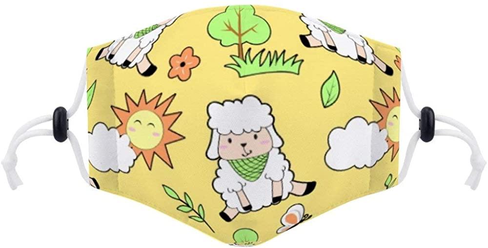 Balaclavas (with Two Filters) Cute Sheep Balaclavas Unisex Anti-Dust Pollution Cycling Facial Protector