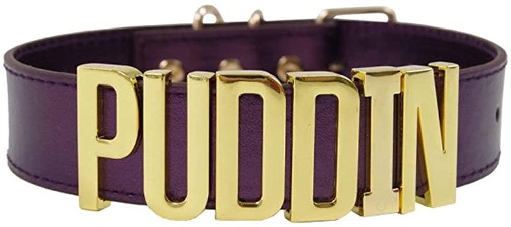RongJunRongJun Adjustable High Neck Black Gold Purple Choker Necklace Collar for Women and Girls Kids (Purple)