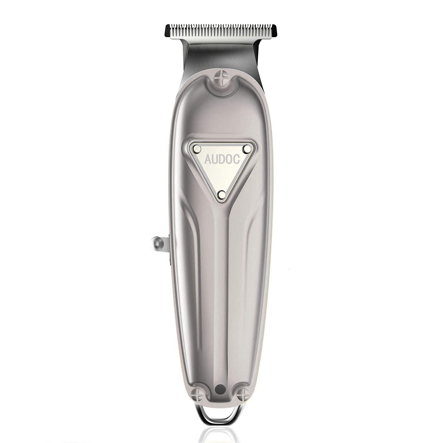 Professional T-Outliner Hair Clipper Trimmer with T-Blade Hair Haircuttings Kit Mustache Body Grooming Kit with USB Rechargeable with All Metal Housing for Men Stylists Barbers Kids Home (silver)