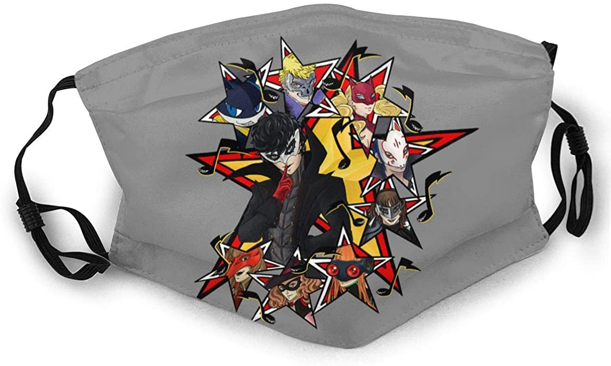 Persona 5 Adult Outdoor Sports Windproof Dustproof Face Towel Headscarf Scarf Sunscreen