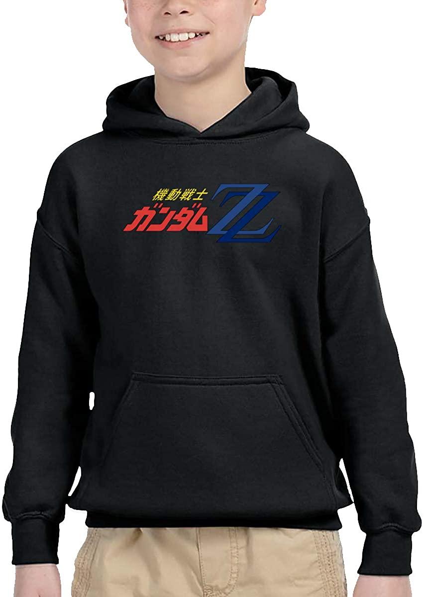 Gundam Mszz-Logo Casual Design Boys Girls Hoodie Sweatshirt