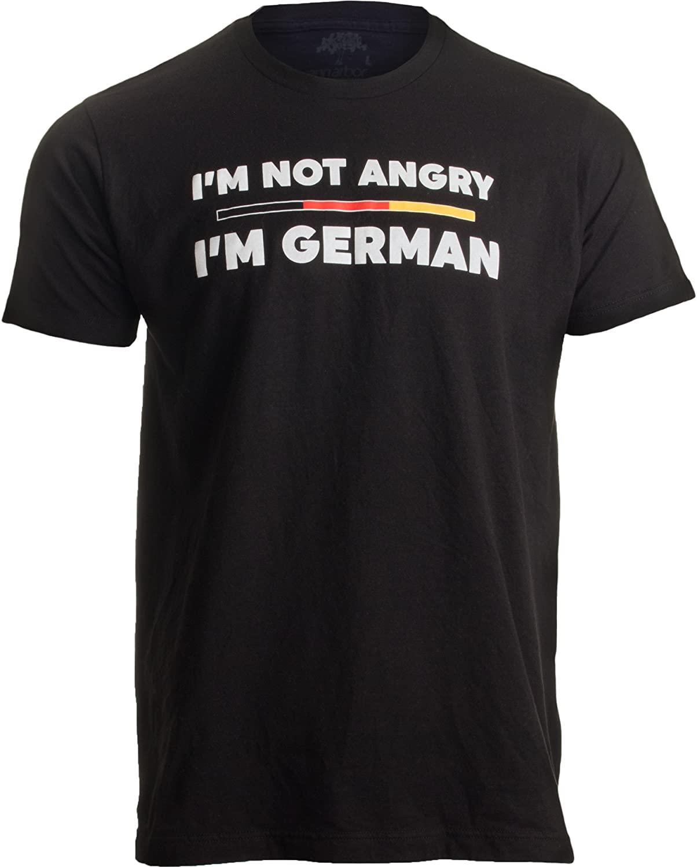 I'm not Angry, I'm German | Funny Germany Flag German-American Humor T-Shirt