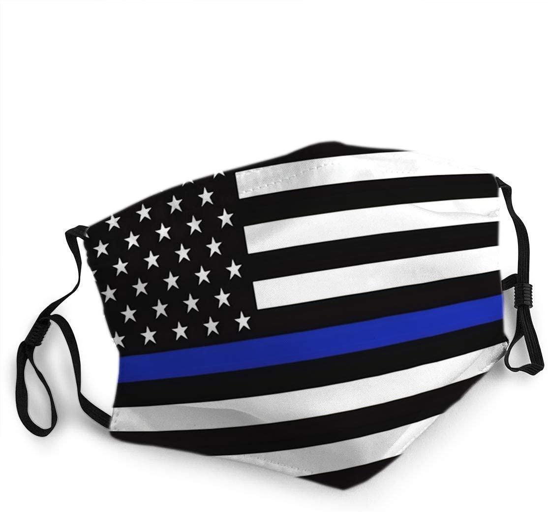 Face Guard,Face Cloth,Face Scarf,Facial Scarf,American Police Flag Face Scarf,20x15cm