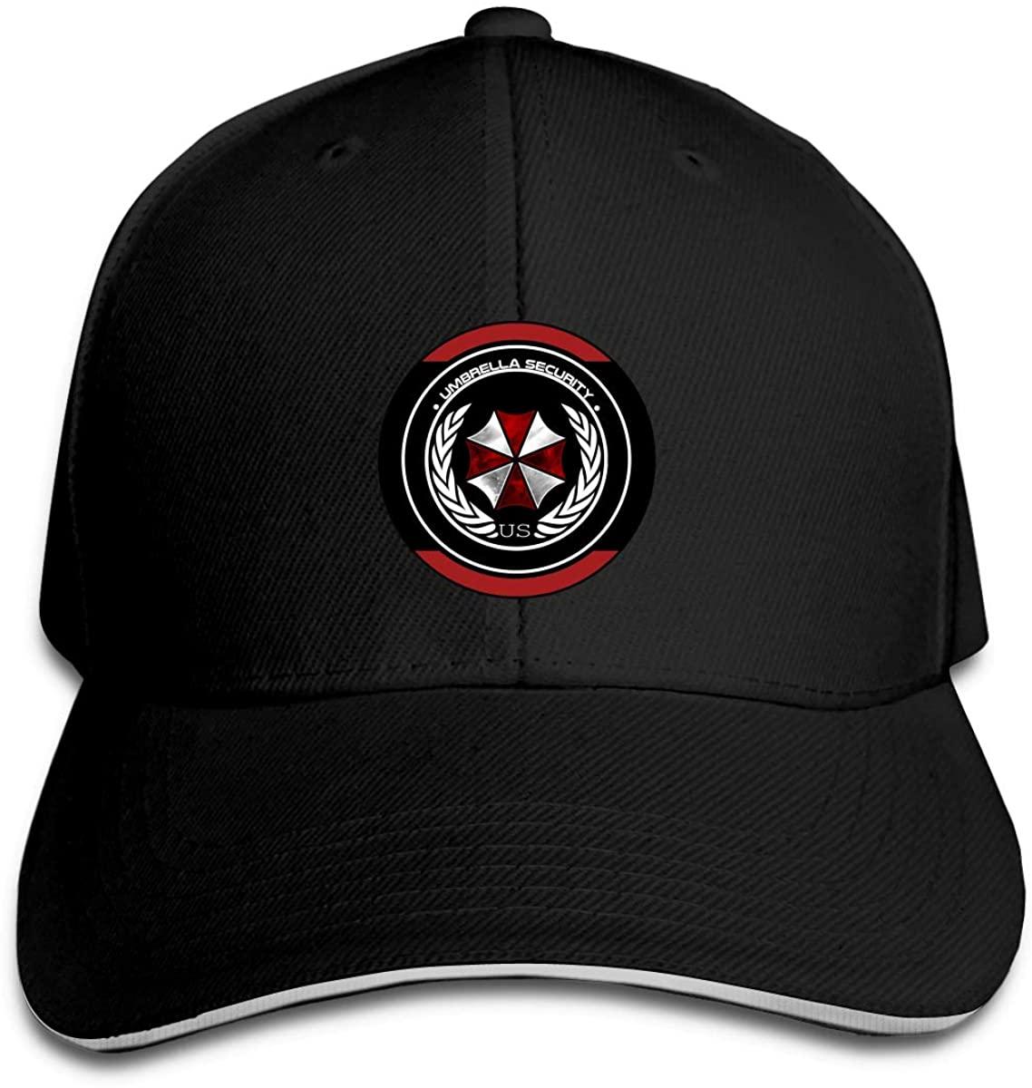 N/D Resident Evil Men Womens Baseball Cap Washed Cotton Adjustable Hat