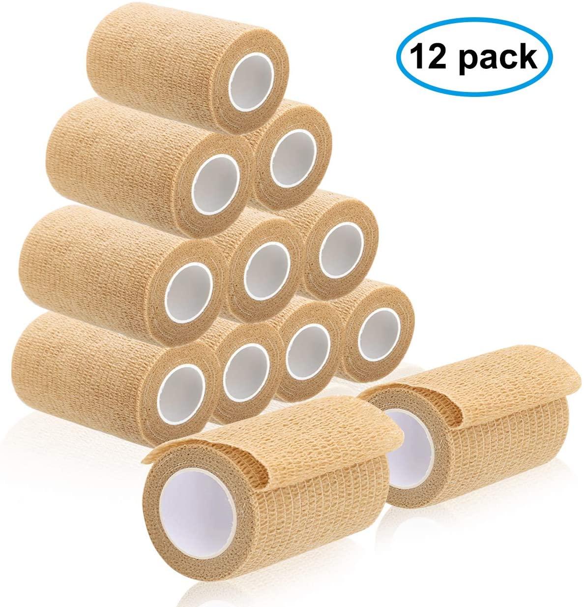 Cohesive Bandage Beige Self Adherent Wrap Bangdage Tape 4