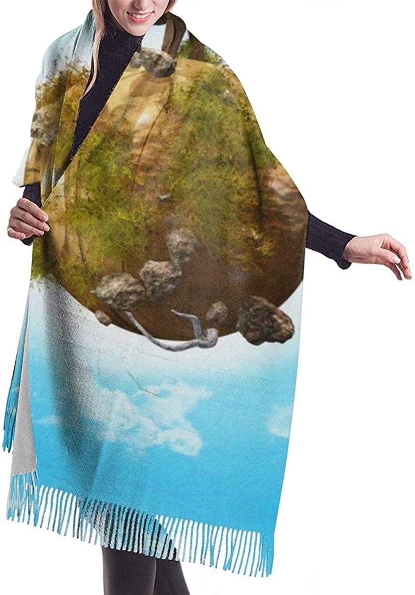 Green Life Tree Elephant Women's Winter Warm Scarf Fashion Long Large Soft Cashmere Shawl Wrap Scarves