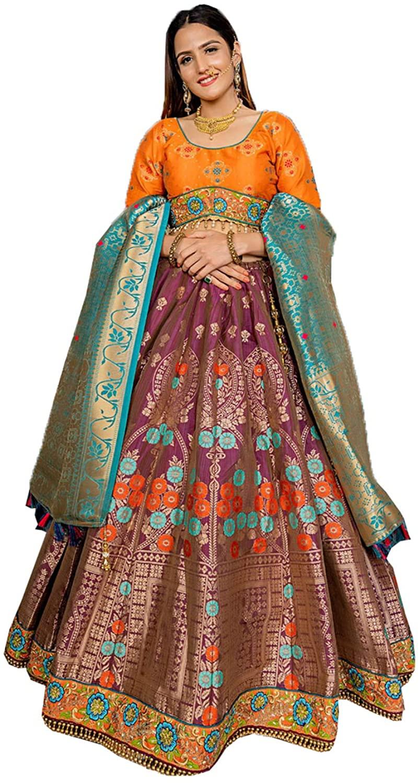 Indian Women Designer Partywear Ethnic Traditional Wine Lehenga Choli. ICW2752-2