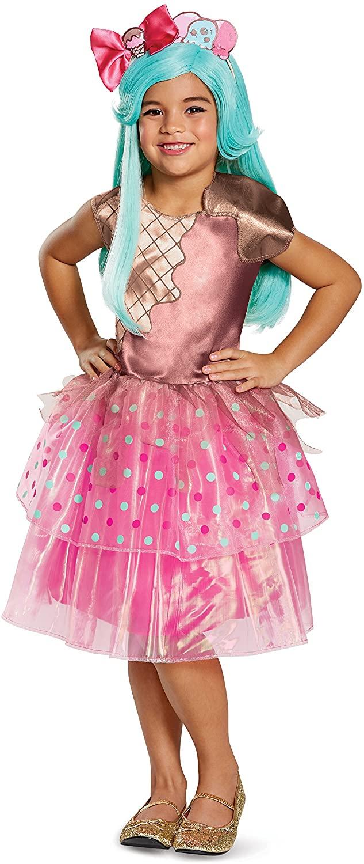 Peppa-Mint Deluxe Shoppies Costume, Pink/Brown, Medium (7-8)