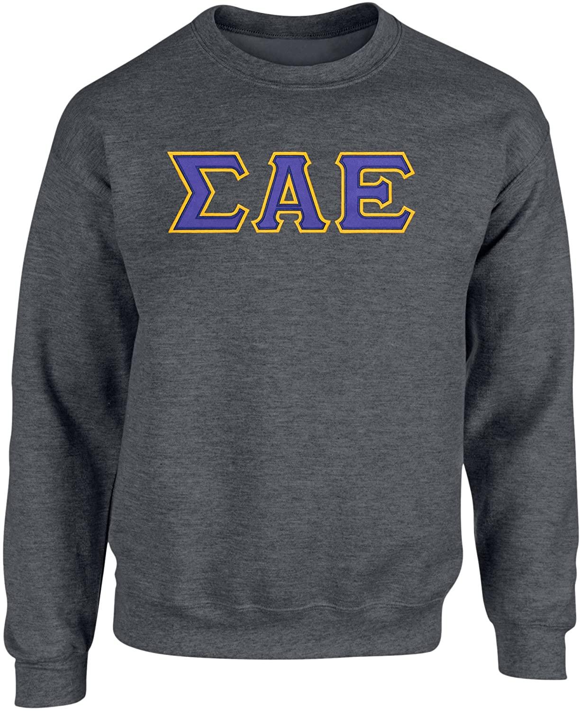 Fashion Greek Sigma Alpha Epsilon Twill Letter Crewneck Sweatshirt