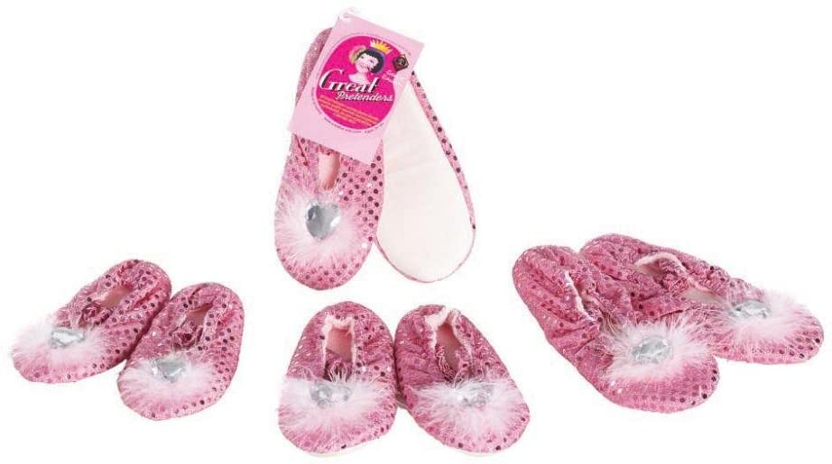 Great Pretenders Princess Heart Costume Slippers, Small