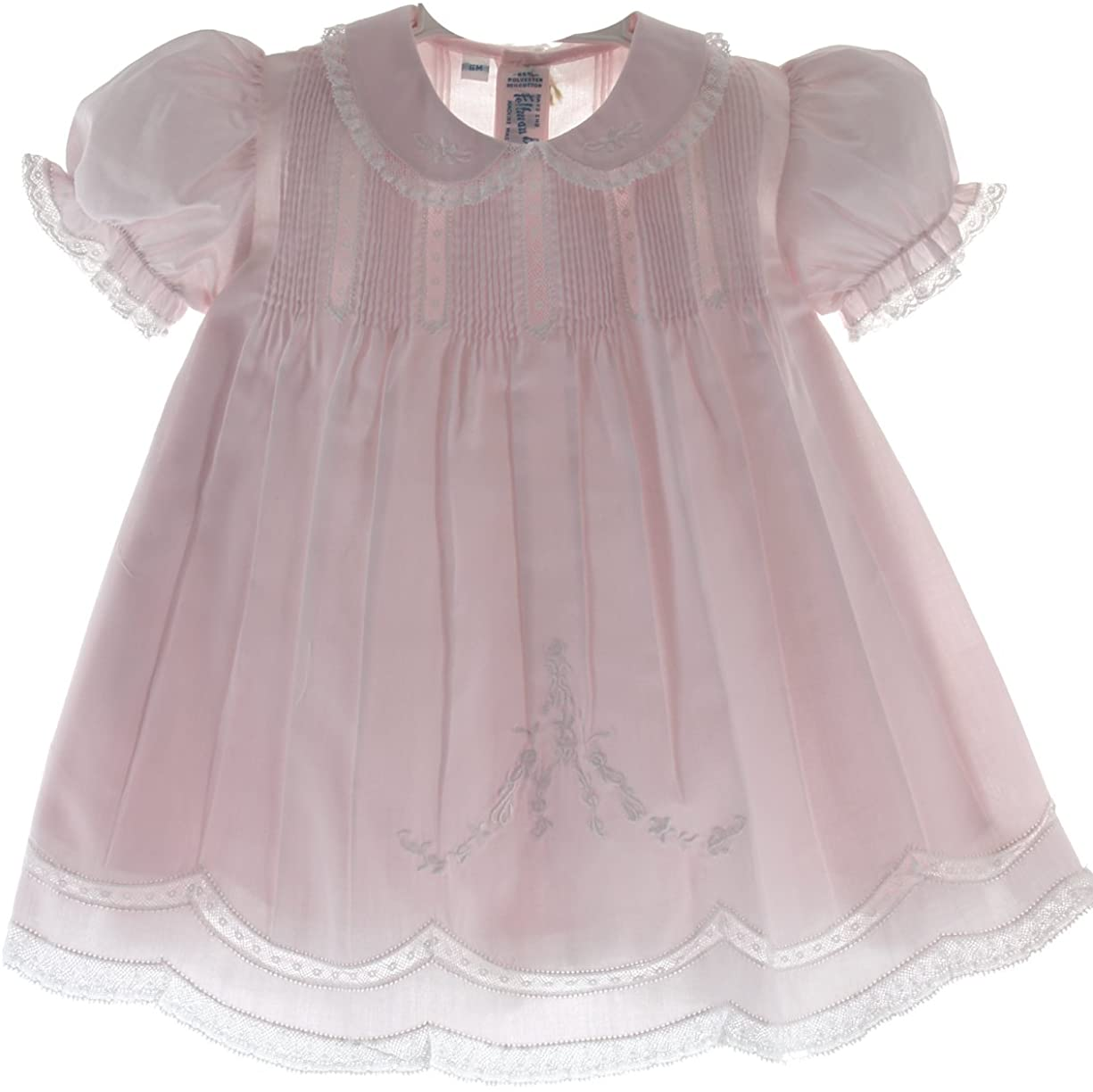 Feltman Brothers Baby Girls Pink Slip Dress with Lace Trim