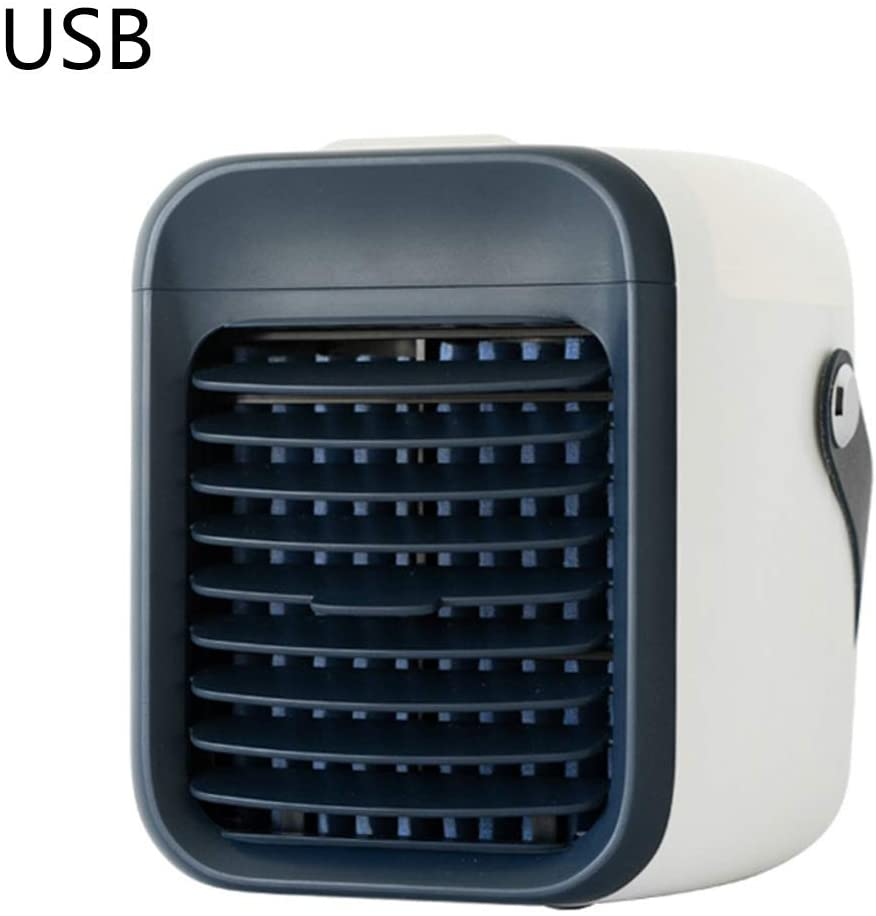 minansostey Mini Portable Personal USB Rechargeable Air Conditioner Multifunctional Cooler Humidifier Purifier Desktop Cooling Fan