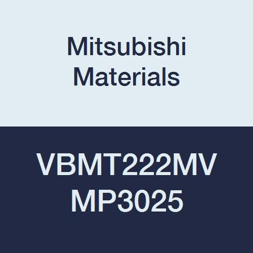 Mitsubishi Materials VBMT222MV MP3025 Cermet VB Type Positive Turning Insert with Hole, General Cutting, Coated, Rhombic 35°, 0.25