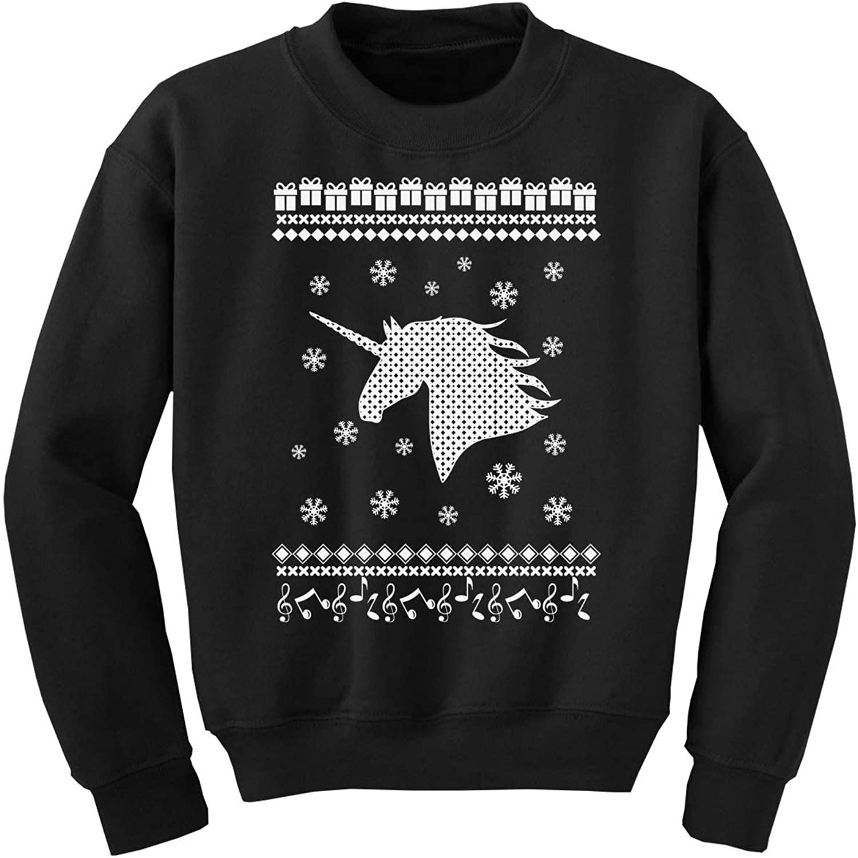 Awkward Styles Ugly Xmas Sweater for Boys Girls Kids Youth White Christmas Unicorn Sweatshirt