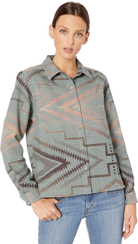 Pendleton Women's Jacquard Cropped Lodge Shirt