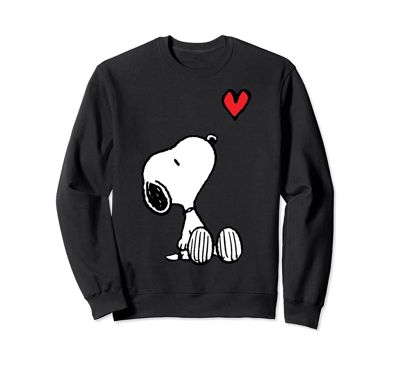 Peanuts Heart Sitting Snoopy Sweatshirt