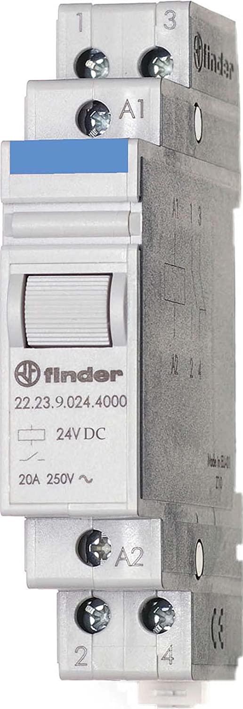 Finder 22.23.9.024.4000 1NC + 1NO 20A, 24V DC Coil, AgSnO2 Contact, Power Relay