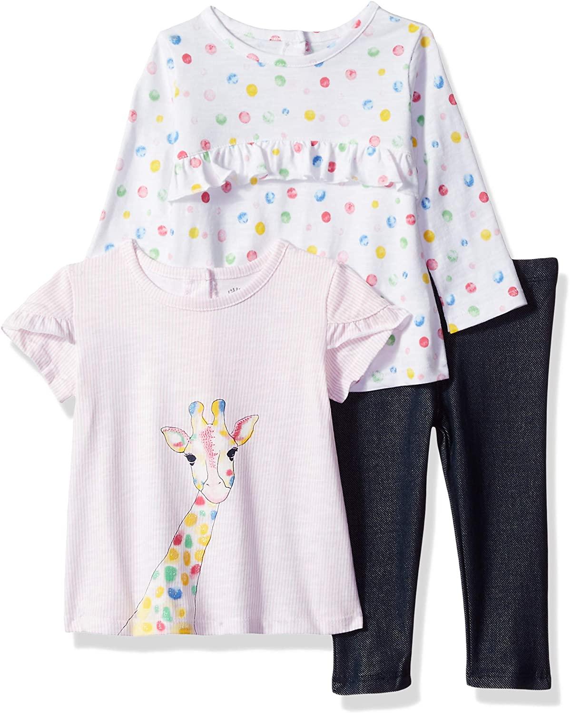 Little Me Baby Girl's 3 Piece Play Set Shirt