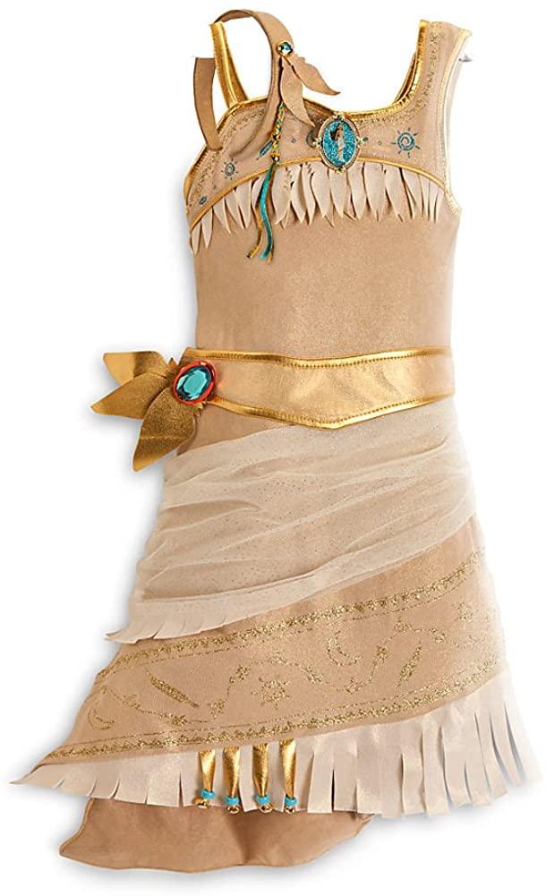 Disney Store Pocahontas Costume Size XS 4/4T: Indian Princess Halloween Dress