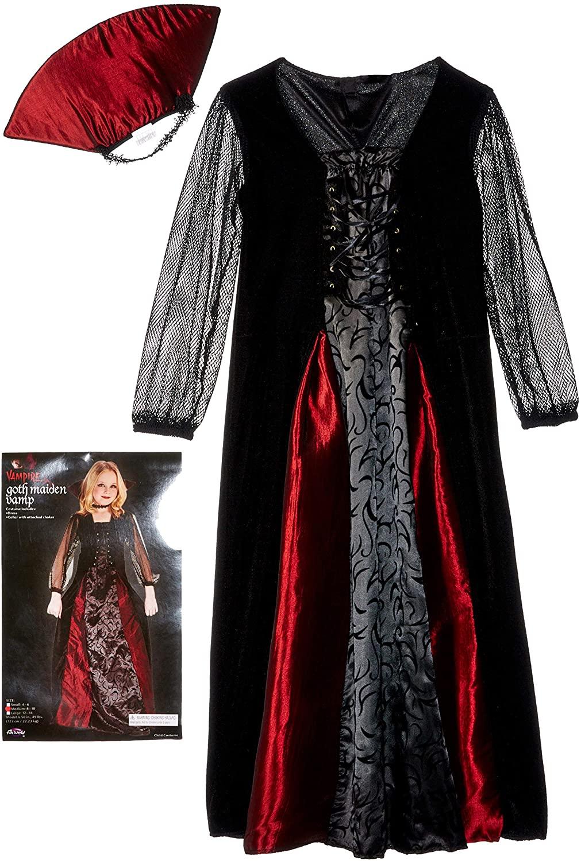Gothic Maiden Vampiress Girl Child Halloween Costume