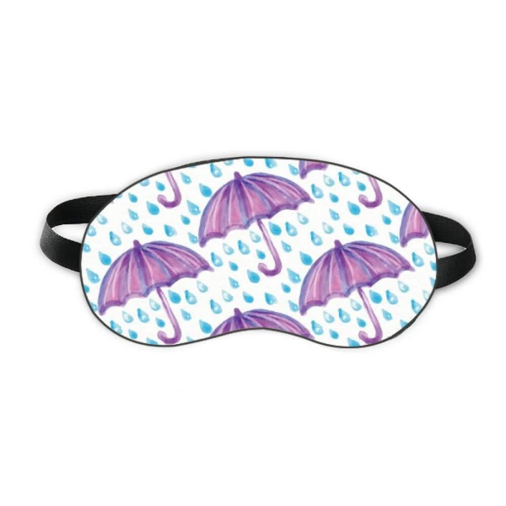 Purple Watercolor Umbrella Rain Sleep Eye Shield Soft Night Blindfold Shade Cover