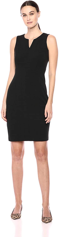 Calvin Klein Womens Sleeveless Seamed Sheath Dress