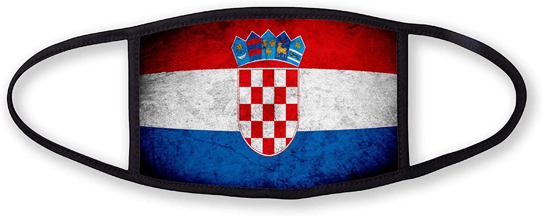 3-Layer reusable/washable Facemask - Flag of Croatia (Croat) - Rustic Design