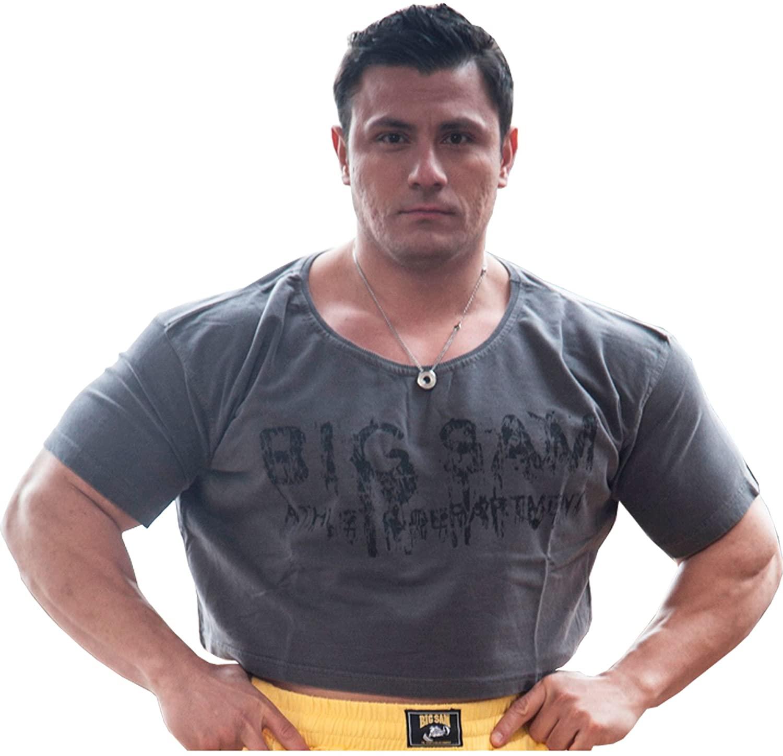 BIG SAM SPORTSWEAR COMPANY Bodybuilding Men's Ragtop Rag Top Sweater Gym T-Shirt 3005